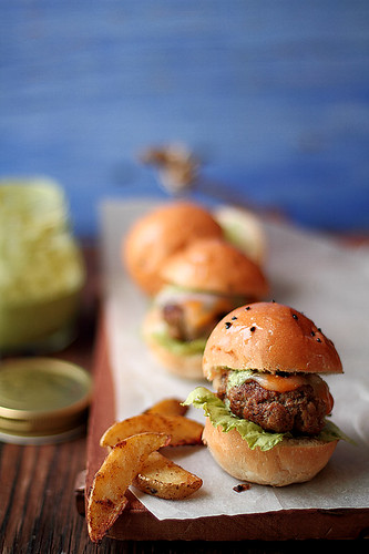 Lamb kebab sliders with coriander mint mayo | by JourneyKitchen
