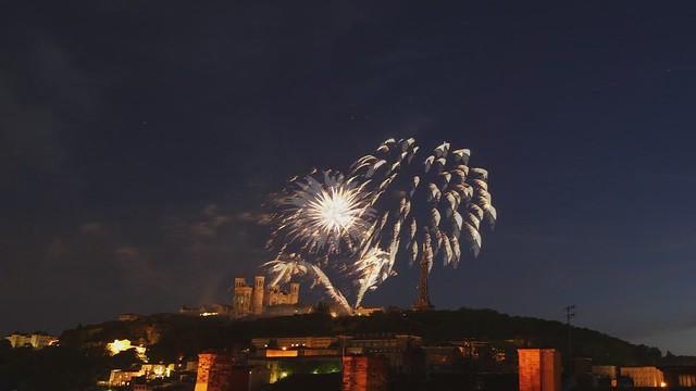 Feu d'artifice du 14 juillet à Lyon