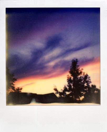 sunset analog polaroid sx70 integral instant sonar colorshade px70 impossibleproject