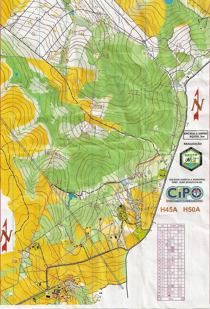 Mapa Esporte Orientacao 4ª Etapa Cipo 2011 Mafra Flickr