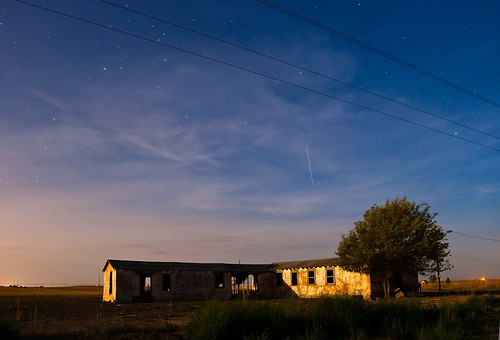 sunset house abandoned clouds stars moonlight scorpius
