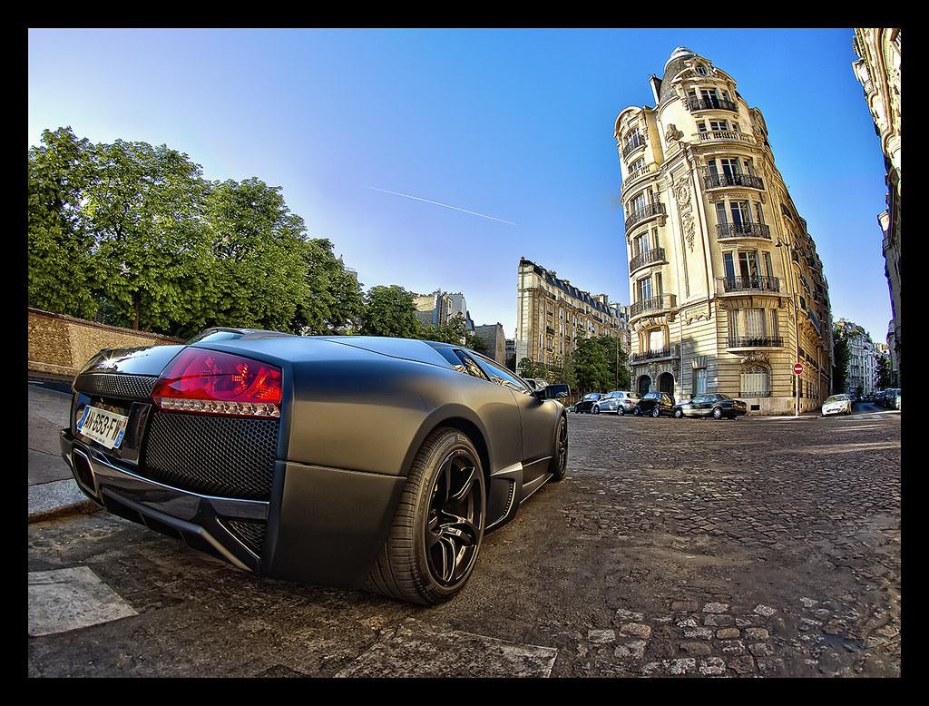 Hdr Black Matte Lamborghini Murcielago Paris Canon 5d Ma Flickr