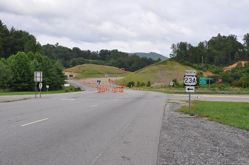 sign construction highway northcarolina us19 nikond90 us23a