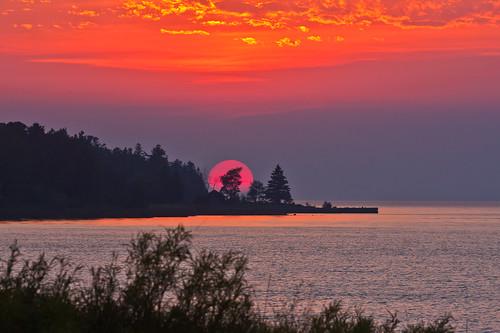 sunset cloudy michigan emmitt ef70200mmf28l wildernessstatepark eos40d shanewyatt