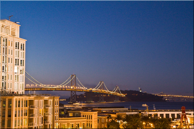 San Francisco Bay Bridge from AT&T Park