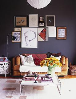James Leland Day {eclectic vintage modern living room w/ b ...