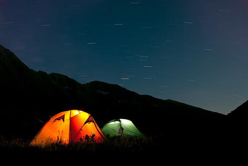 mountain nikon tent romania startrails fagaras d80