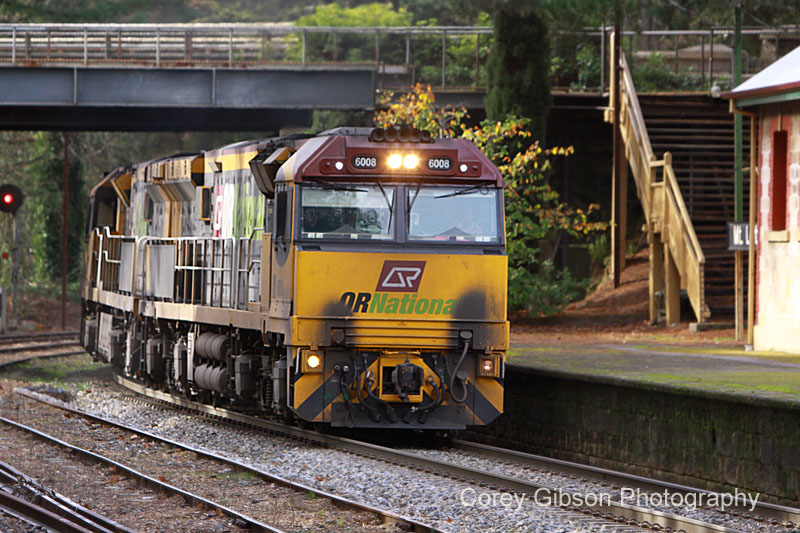 QRN 6008 & 6009 at Mt Lofty Station by Corey Gibson
