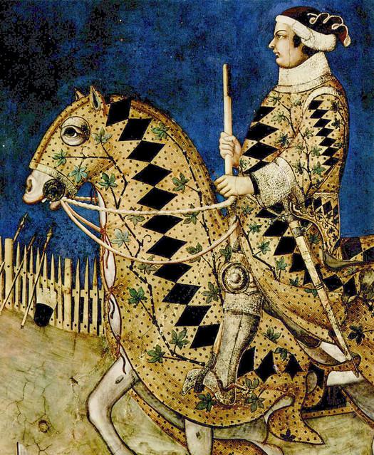 Simone Martini - Guidoriccio da Fogliano all'assedio di Montemassi, detail