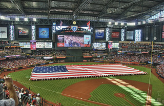 Chase Field - ASG 11 - Pregame Giant Flag (HDR) | by Eric Kilby