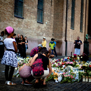 Memorials and flowers at the Oslo Cathedral (Oslo Domkirke) | by Giltvedt