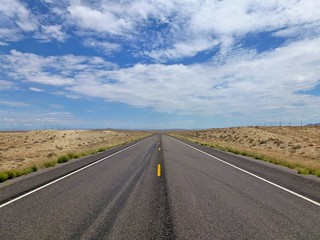 Highway at Shiprock   by gmeador
