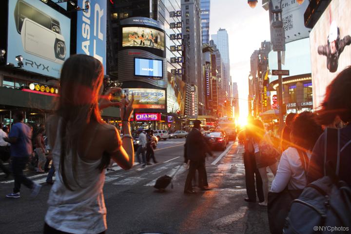 Manhattanhenge, July 13, 2011