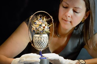 Basket of Flowers Egg, Royal Fabergé exhibition, Buckingham Palace | by The British Monarchy