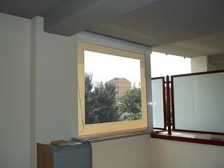 Tenda a caduta con tessuto PRECONTRAINT 302 avorio e finestra in PVC Cristal M.F. Tende Torino  www.mftendedasoletorino.it | by M.F. Tende