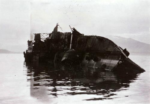 Narvik havn 1940- ødelagt tysk destroyer