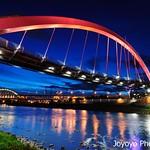 藍色時刻 松山彩虹橋