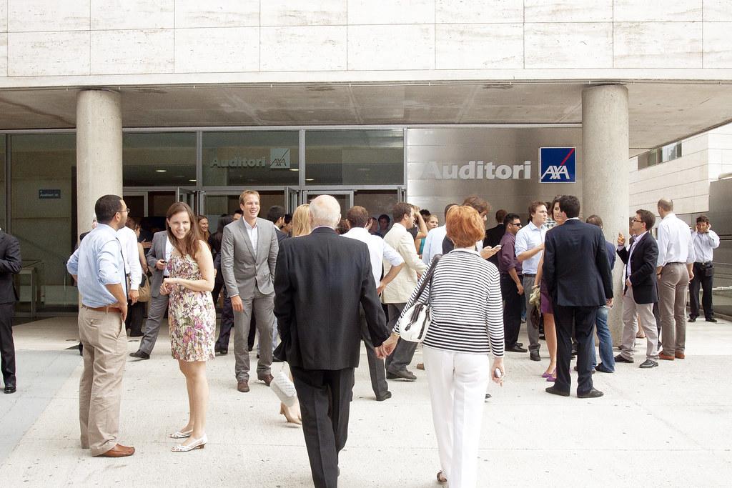 AXA Auditorium   Family and friends begin to arrive   Barcelona School of  Economics (BSE)   Flickr CICLOBCN2021