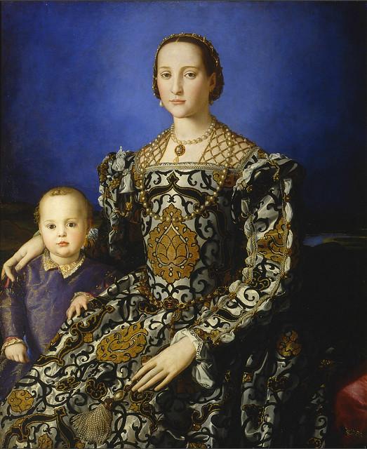 Bronzino - Eleonora di Toledo with her son Giovanni de Medici (1544-45)