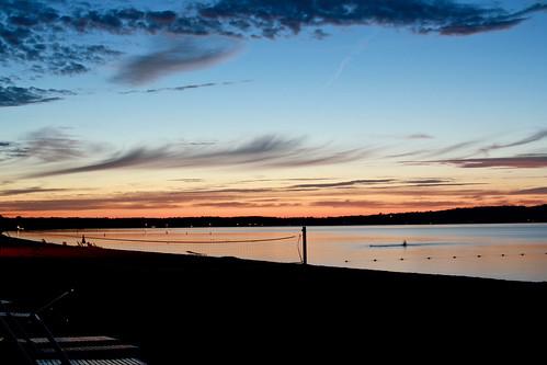 city sunset traverse