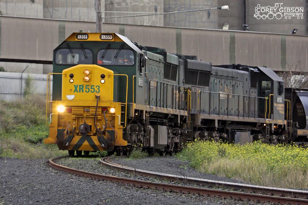 XR553 & XR550 at the Geelong Grain Terminal by Corey Gibson