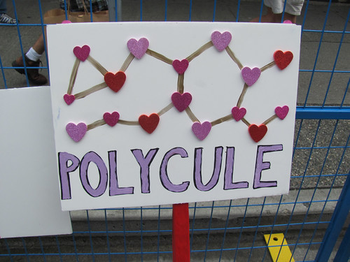 I was invited to march with the Vancouver Polyamory group in the 2011 pride parade | by theslowlane