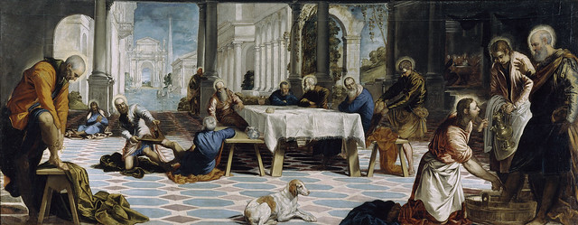Tintoretto - Christ washing the feet of his disciples (1547)