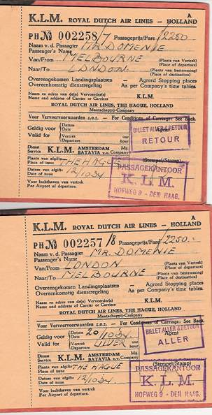Domenie KLM Tickets