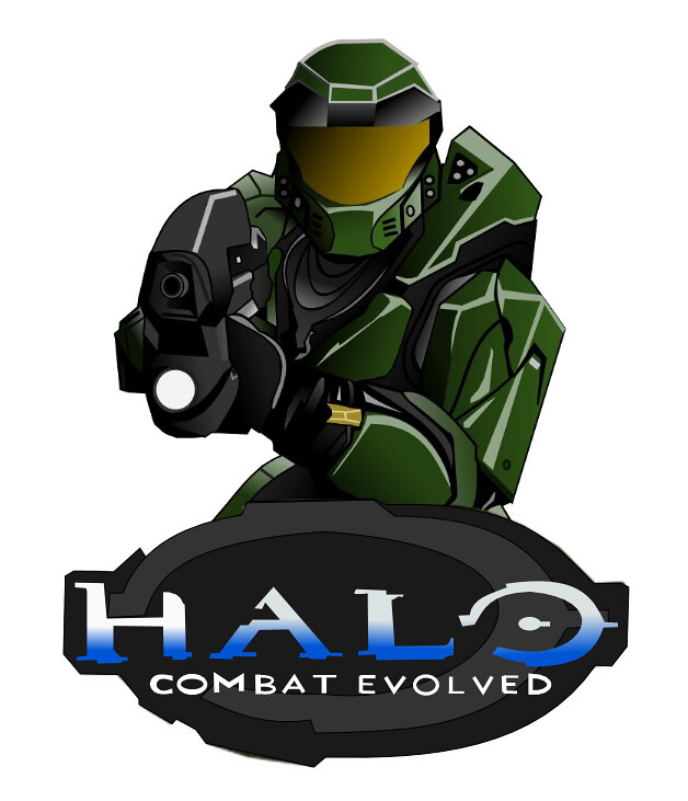 Master Chief Halo Ce Drawing Drawn By Me On Inkscape Sin