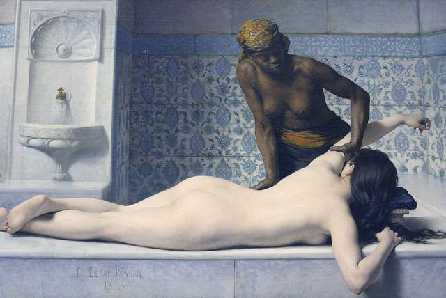 Edouard Debat-Ponsan - The Massage in the Harem (1883)