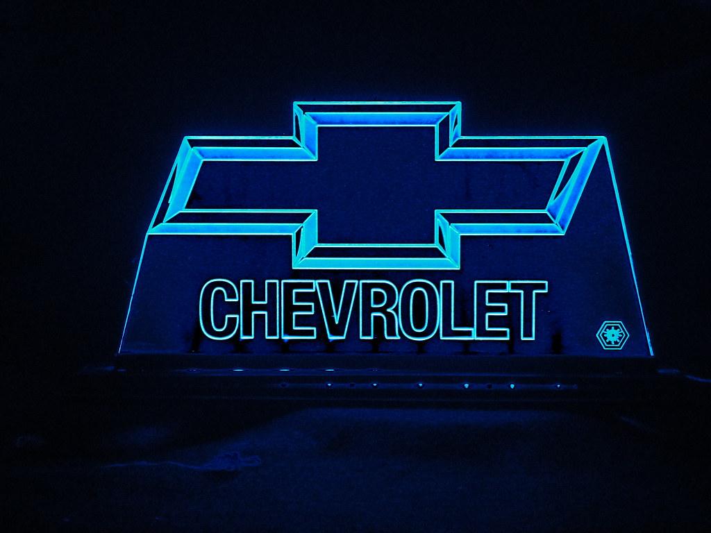 TeknoArtes - Displays Iluminados - Logo Chevrolet ...