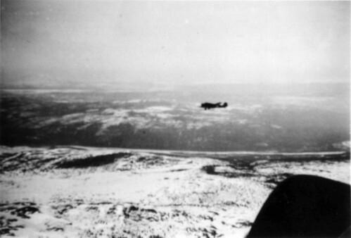 JU 52 på vei til Trondheim, i nærheten av Trondheim