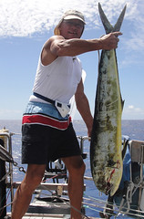 ma, 06/09/2010 - 00:30 - 01_ Op weg naar de Cook Islands vangen we onze grootste Mahimahi