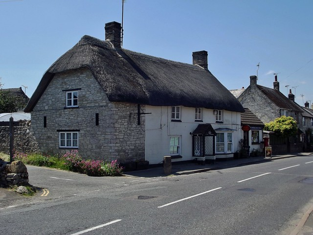 A Traditional Thatched House in Dorset, England - July 2011