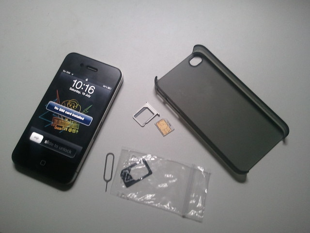 Taking out the iPhone 4 SIM card