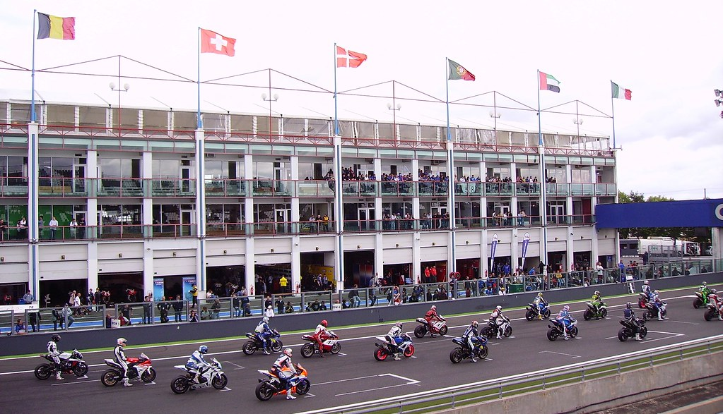 Before a motorcycle racing