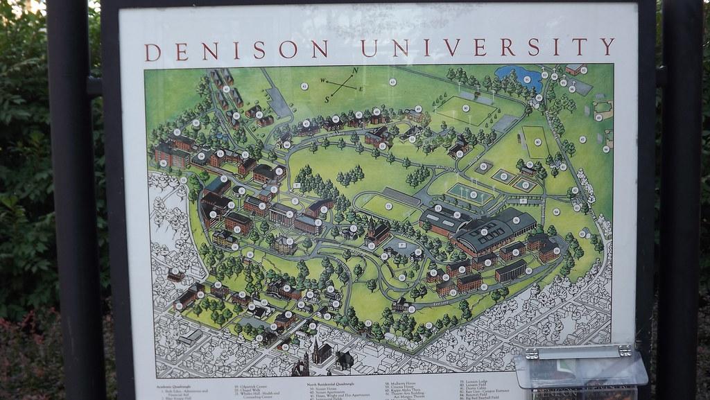 denison university campus map Denison University Map Eric Flickr denison university campus map