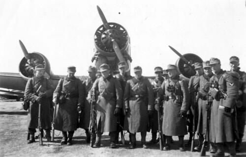 Deler av bataljon Sorko (batajonsjefens navn) klar til avreise fra København til Trondheim