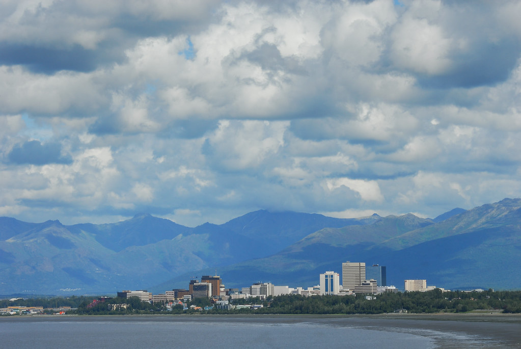 Cook Inlet, City of Anchorage, and the Chugach Mountains