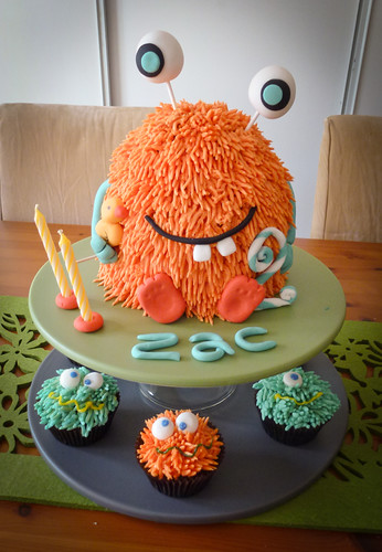My little monster 2nd birthday cake | by Bake-a-boo Cakes NZ