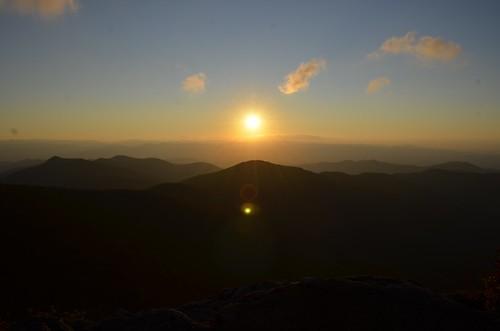 park sunset sun mountain mountains forest nc hiking northcarolina trail national craggypinnacle