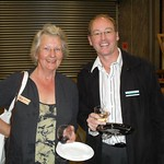 Ada Davis from Handy As -Kiwi Solutions with David Moss, Vice President of the Chamber of Commerce