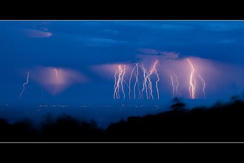 blue storm evening intense lightning shenandoah overlook thunder skylinedrive