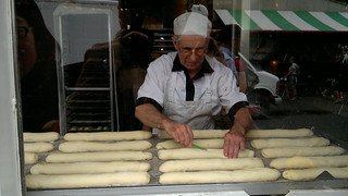 Just another day making baguettes at Granville Island's La Baguette & L'Echalote Bakery - 0717201111208 | by roland