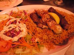 木, 2011-07-21 19:22 - Jackson Heights: Afghan Kebab House Combo Kebab $16.00 Combination of grilled lamb, chicken and ground beef.