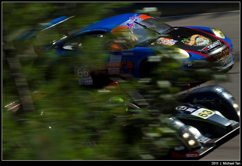 American Le Mans - Sunday race - TRG and Genoa Racing behind the trees | by Tanner.