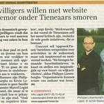 Vrijwilligers willen met website het gemor onder Tienenaars smoren - Het Nieuwsblad 28-08-2009