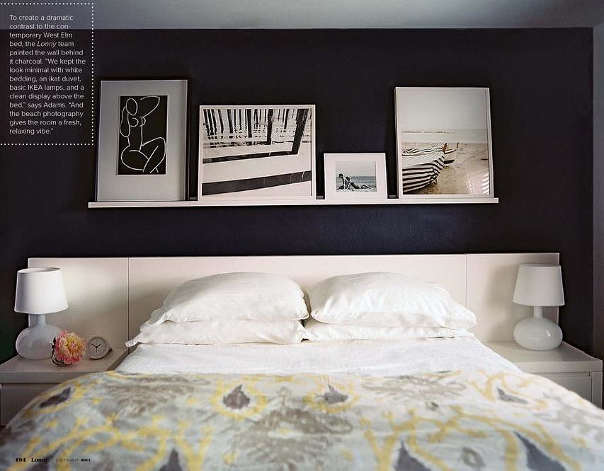 Gray + white + yellow bedroom: Benjamin Moore chalkboard p ...