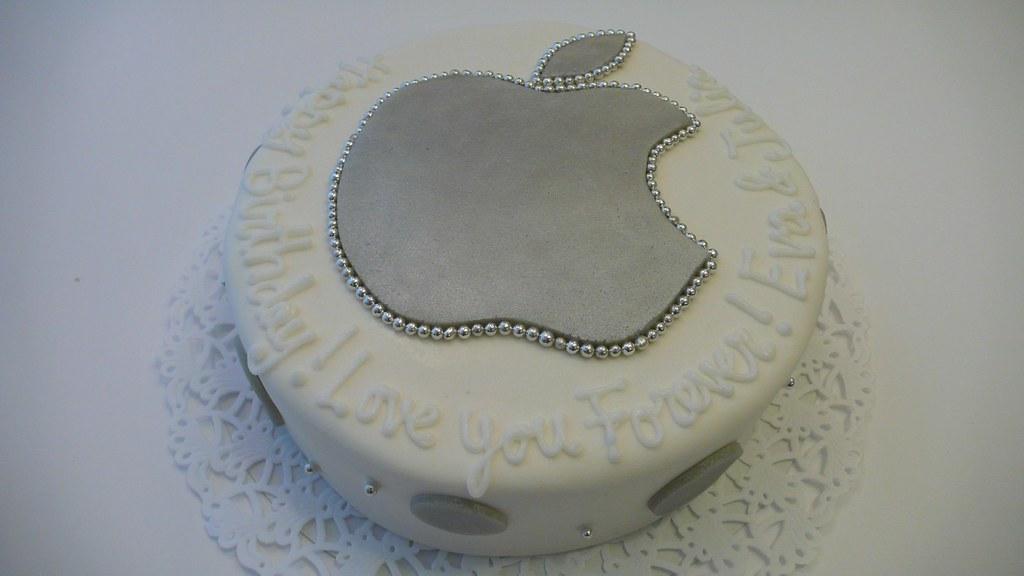 Fantastic Apple Birthday Cake Personalized Apple Logo Birthday Cake Flickr Funny Birthday Cards Online Fluifree Goldxyz