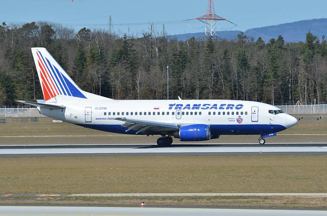 Transaero Airlines Boeing 737-5Y0 EI-DTW